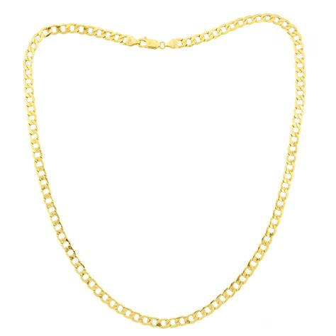 10kt gold 5mm 20 quot curb necklace jewelry pendants