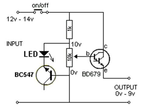 bc547 transistor output bench power supply electro circuit schema datasheet