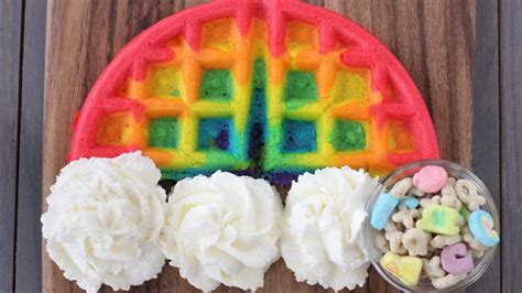 blue colored waffles rainbow waffles recipe tablespoon