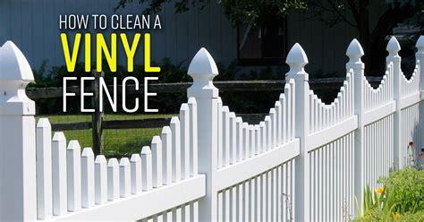 clean  vinyl fence simple green