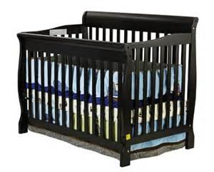 Black Crib Sleigh Crib White On Me Ashton 4 In 1 Convetible