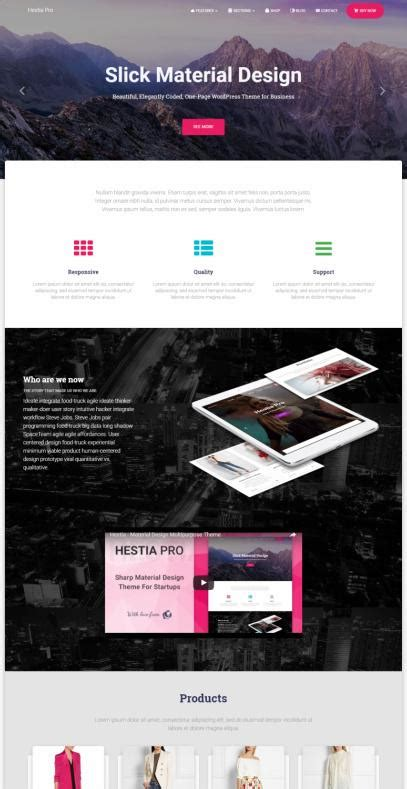 theme company names themeisle hestia pro review one page theme must read