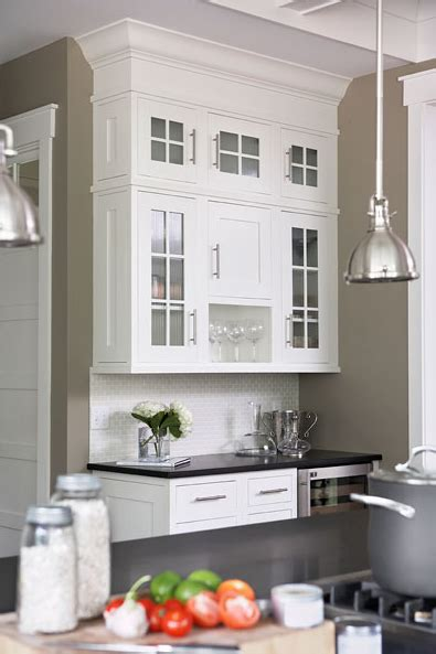 kitchen with khaki walls paint color white kitchen cabinets black granite home decoz