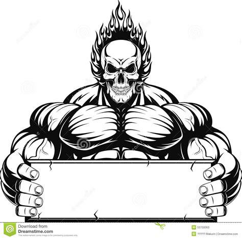 Outline Of A Bodybuilder by Bodybuilder Vector Cartoondealer 53759363