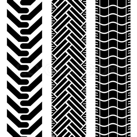 tire pattern ai collection of tire treads in black and white with repeat