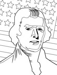 thomas jefferson coloring page printable coloring pages