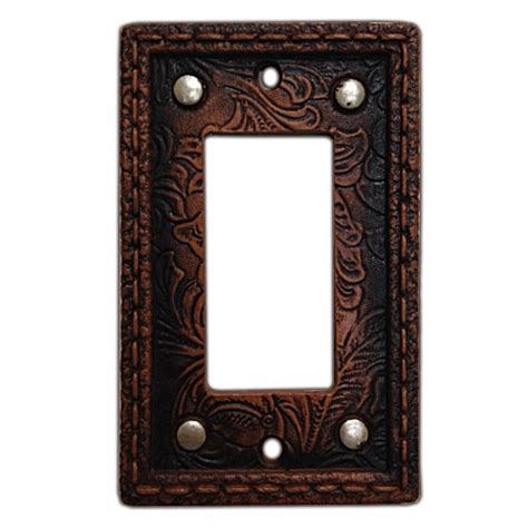 decorative switch wall plates tooled western decorative switch wall plate single rocker