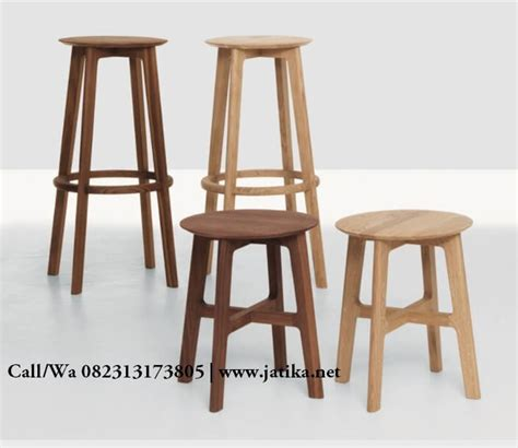 Kursi Bar Kayu Murah kursi bar model stool murah kayu jati jatika furniture