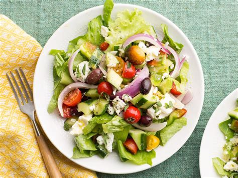 greek salads greek salad recipe food network kitchen food network