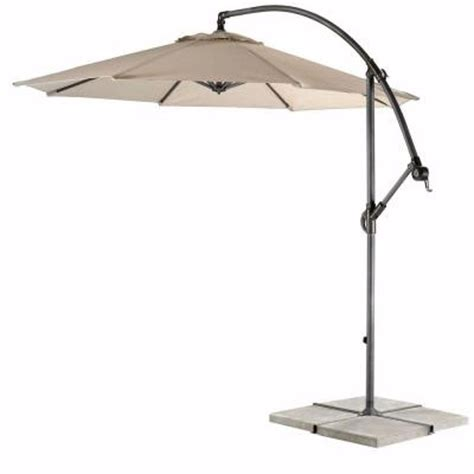 Home Depot Patio Umbrella Home Decorators Collection 10 Ft Cantilever Patio Umbrella In Smoke With Black Frame 6249610460