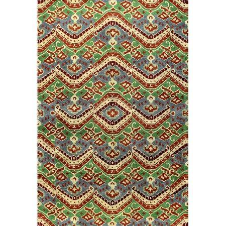 isan tufted chindi black orange area rug decor