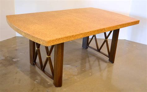 Dining Tables Cork Paul Frankl S Cork Walnut And Brass Dining Table For Johnson Furniture Co At 1stdibs