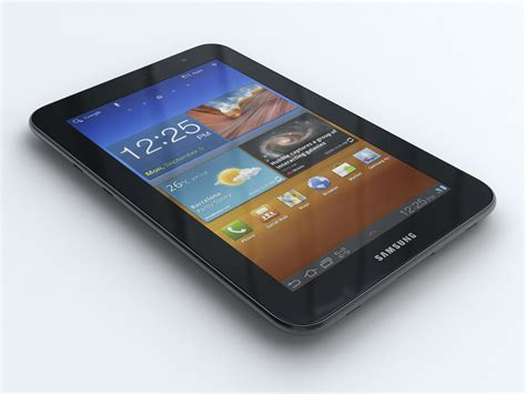 Samsung Tab 7 Plus P6200 samsung p6200 galaxy tab 7 0 plus 3d model max obj 3ds fbx cgtrader