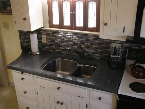 Black Glass Countertops by Concrete Countertops Restuccia Excavating