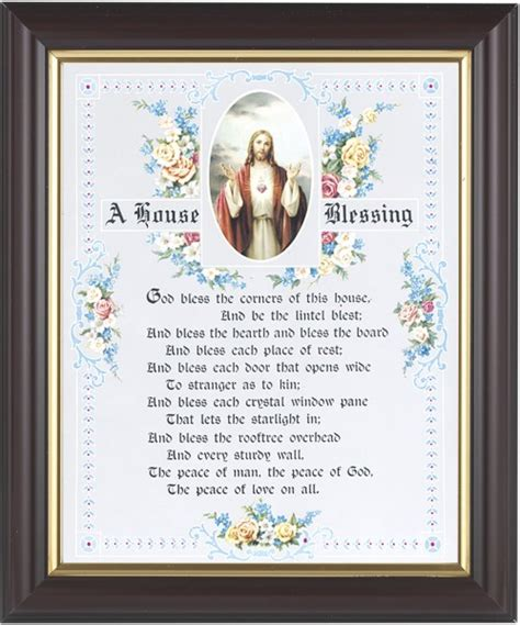 House Of Blessings by A House Blessing Prayer Framed Print From Catholic Faith