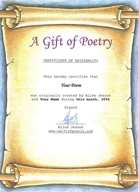 Poetry. Gifts. A Gift of Poetry. Wedding, Anniversary and