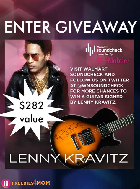 Guitar Sweepstakes 2014 - lenny kravitz autographed guitar giveaway