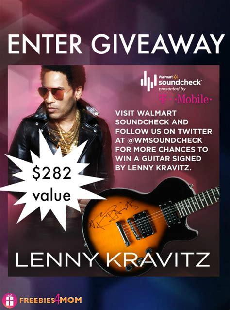 Guitar Giveaways 2014 - lenny kravitz autographed guitar giveaway