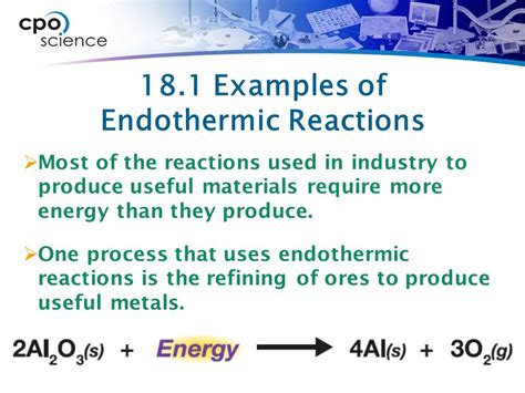 exle of endothermic reaction chapter eighteen energy and reactions ppt