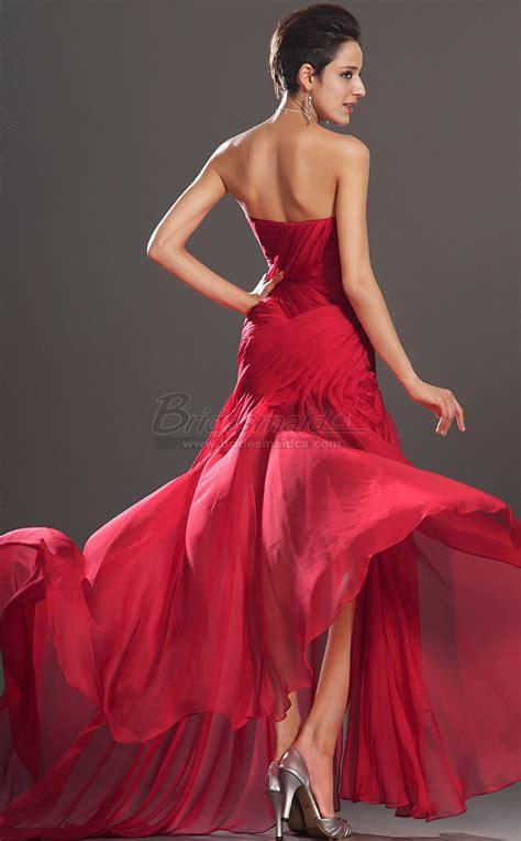 Ee  Red Ee   Sweetheart Neckline Long Silk Chiffon Mermaid