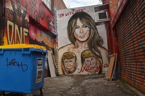trump street art    walls   support