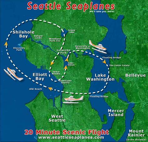 seattle map lake union scenic flights seattle seaplanes lake union seattle
