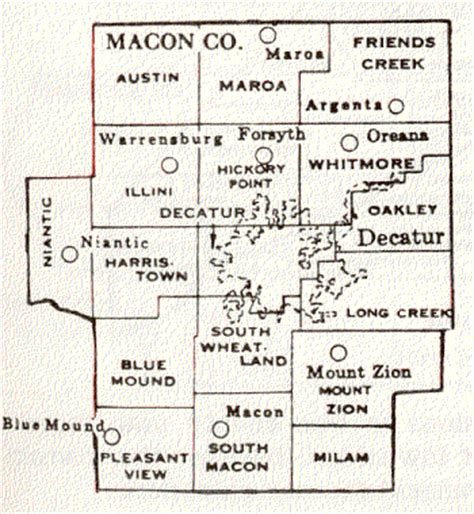 Macon County Search Il Macon County Illinois Maps And Gazetteers