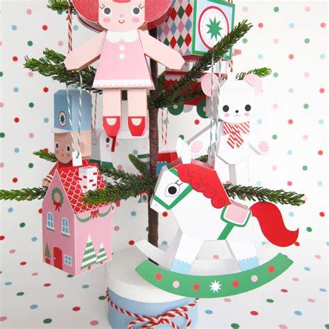printable paper christmas ornaments christmas toys ornament collection printable paper