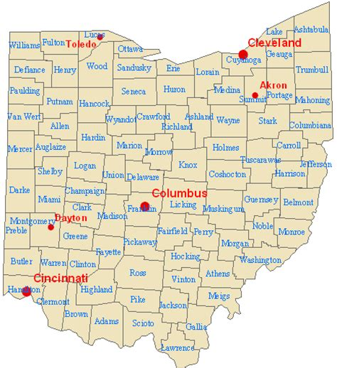 map of ohio with major cities andy woodruff s geography 353 project page maps and