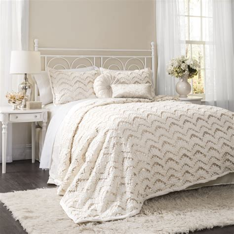 lush comforter set lush decor giselle 3 piece comforter set contemporary