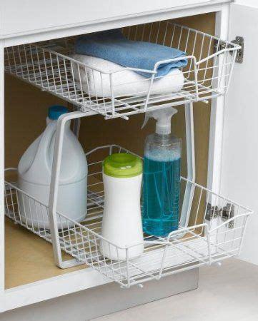 closetmaid under sink storage closetmaid 3609 2 tier 14 inch kitchen cabinet