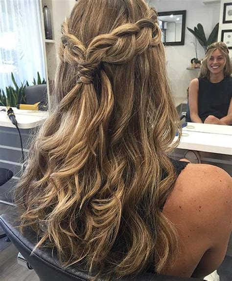 homecoming hairstyles down with braids 31 half up half down hairstyles for bridesmaids braid