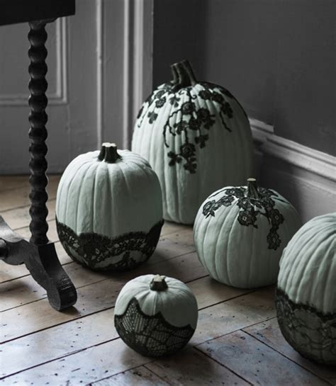 unique ideas for decorating pumpkins tastefully gothic