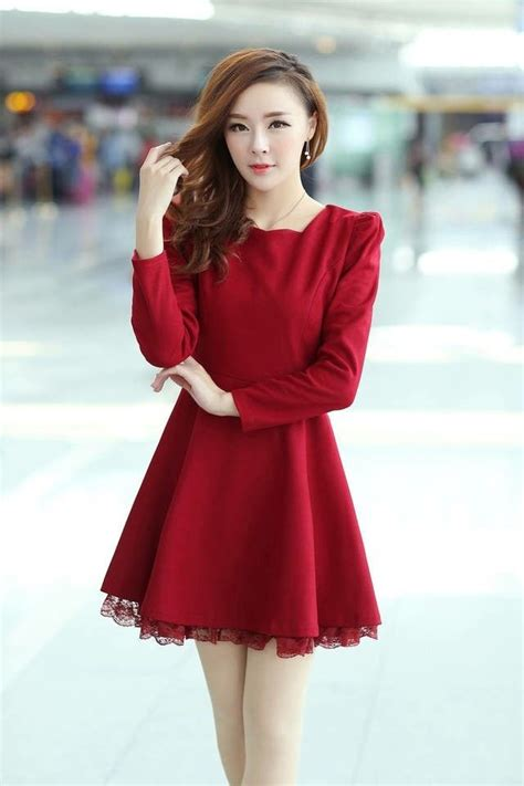 dress yana koreanstyle womens slim korean fashion solid woolen lace string dress