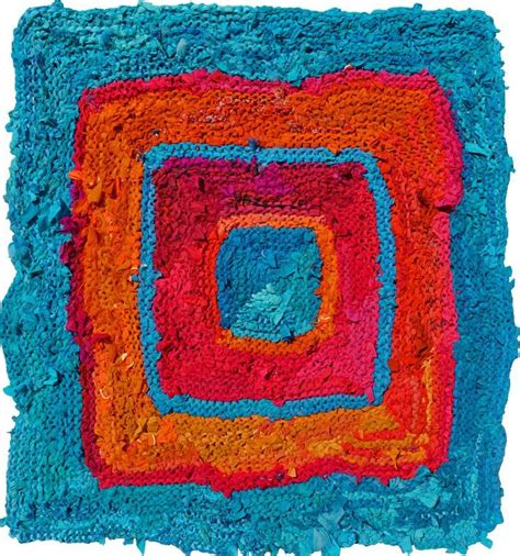 august rag rug knitted rug tiede studio eco