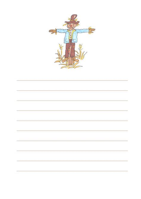 scarecrow writing paper 28 scarecrow writing paper scarecrow writing paper