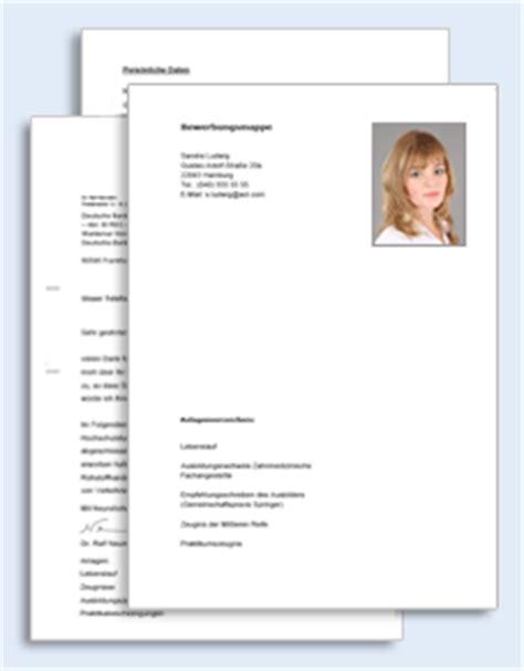 Bewerbungsschreiben Zahntechniker bewerbungs paket zahntechnikerin muster zum