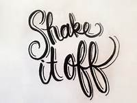 Shake It Off Colouring Pages