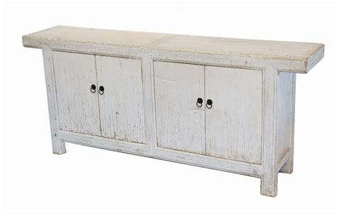 antique white media console sideboard cabinet custom