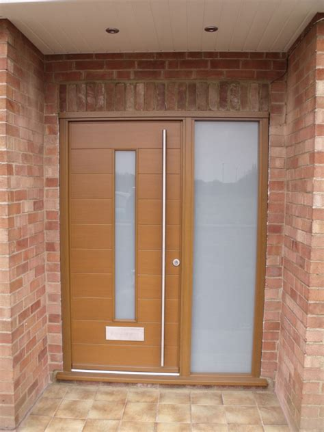 funky front doors ral 2009 traffic orange contemporary front door timber
