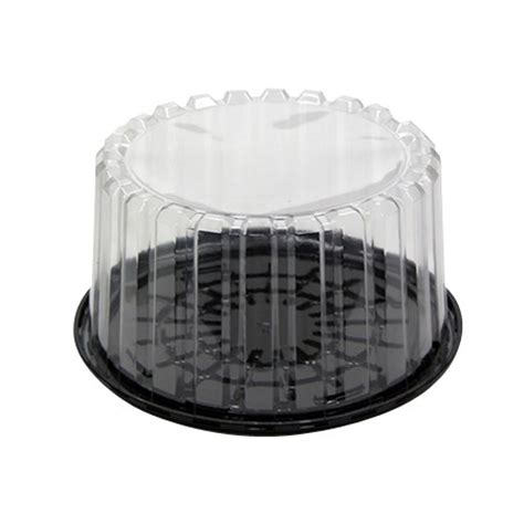 10 inch plastic cake container dome lid 8 quot black base plastic cake container with clear dome