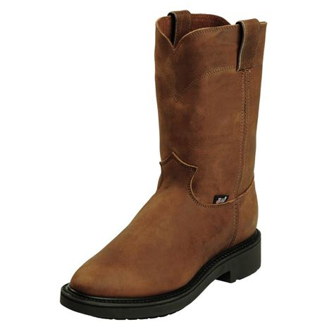 mens justin work boots justin aged bark mens work boots d d outfitters
