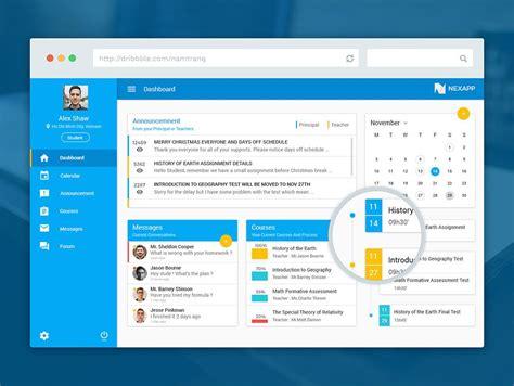 web application ui design templates free awesome elearning educational website dashboard ui free