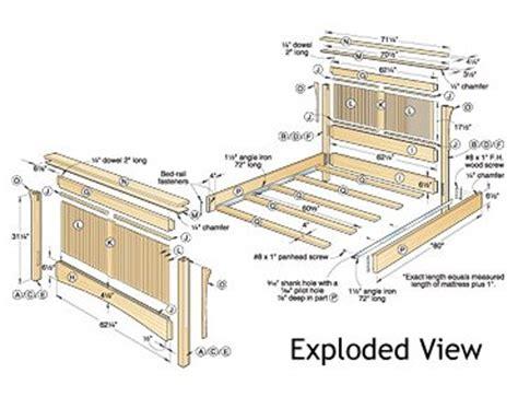 futon blueprint build your own bed plans wood magazine