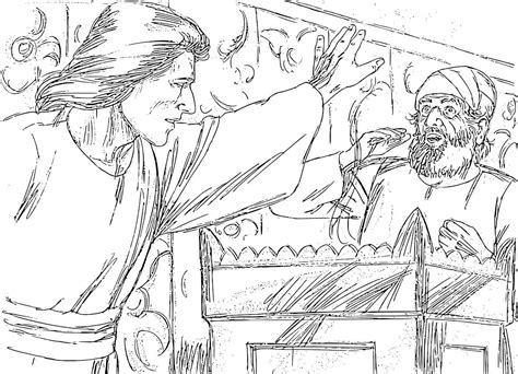 coloring page zechariah at the temple prodigal son pigs and sons on pinterest