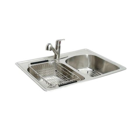 Stainless Steel Sink Bowl by Glacier Bay Stainless Steel All In One Top Mount 2