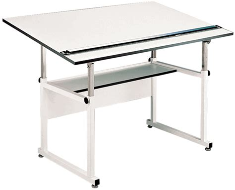 Alvin Workmaster Professional Drafting Table White Base White Drafting Table