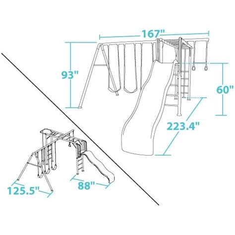 standard swing set dimensions swing set dimensions standard pictures to pin on pinterest