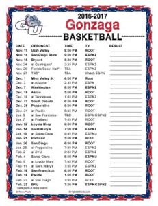 Basketball calendar template printable basketball calendars printable 2016 2017 gonzaga bulldogs basketball schedule saigontimesfo