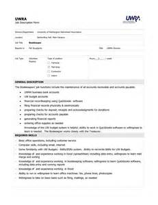 Charge Bookkeeper Description by Bookkeeper Description Pdf